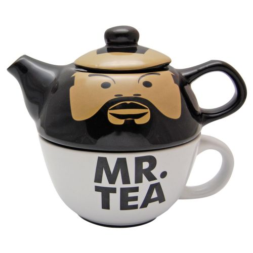 Mr T Lisenced Product Tea For One Teapot and Cup Set - Quirky gift idea for Men - Mr T Merchandise